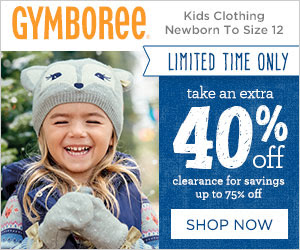 Gymboree is offering 40% Off Markdowns for Savings up to 75% off