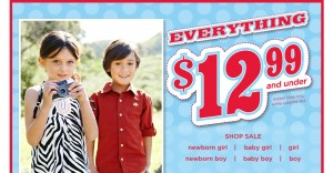 Hot Gymboree Sale: Everything is $12.99 and less