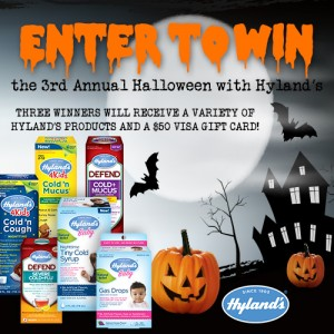 Enter to #win in the 3rd Annual Halloween with Hyland's #giveaway  #halloweenwithhylands