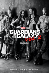 #GotGVol2 GUARDIANS OF THE GALAXY VOL. 2 is in theaters May 5, 2017!