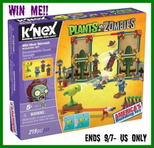 Enter to #win The win the Plants vs Zombies Wild West Skirmish Knex set (ends 9/7) #giveaways