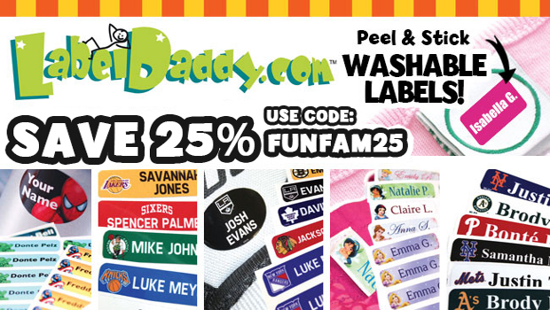 *Hot* Save 25% on Label Daddy peel and stick custom name labels