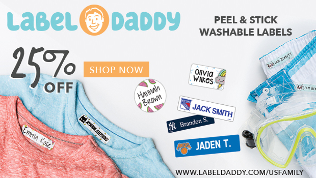 Save 25% on Label Daddy labels for Summer Camp @usfg @labeldaddy