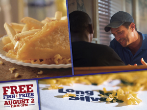 #free Fish & Fries At Long John Silvers August 2, 11-3