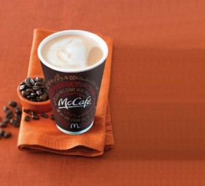 #free coffee at McDonalds Restaurants