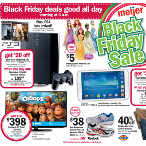 Meijer 2013 Black Thanksgiving and Black Friday Ad