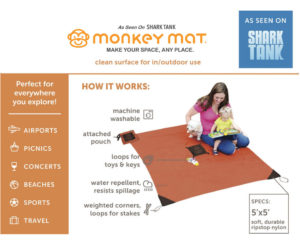 The #QuiltedMonkeyMat Makes Life Easier  #MonkeyMatLifestyle @usfg
