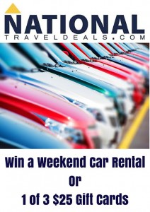 Enter to win a  weekend rental or a $25 gift card @NtlTravelDeals #HGG2105