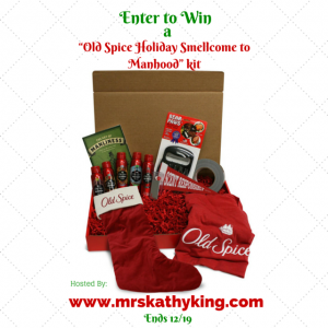 Enter to #win in the Old Spice Holiday Smellcome to Manhood kit Giveaway (ends 12/19)