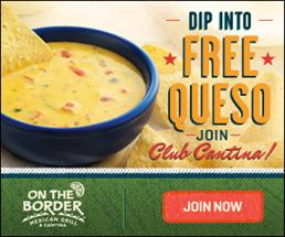 #Free Queso at On The Boarder Mexican Grill