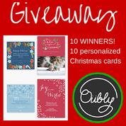 Enter to #win 10 personalized Christmas cards #2014HGG @Oubly (ends 10/7) #giveaways