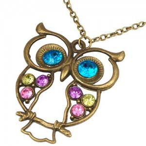 *Hott* Colorful Owl Charm Necklace Only $1.07 + FREE Shipping!