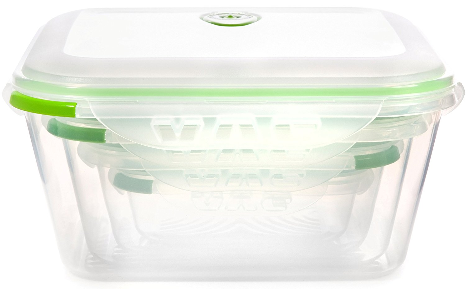 Ozeri INSTAVAC Nesting Food Storage Container Set .