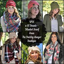 Enter for a chance to win a CC Beanie and Blanket Scarf from @PaisleyHanger! Ends 1/20 #2017Products