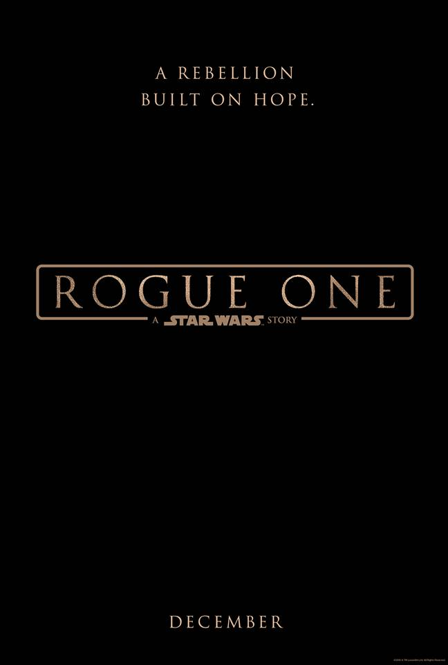 #RogueOne  A STAR WARS STORY opens in theaters everywhere on December 16, 2016!