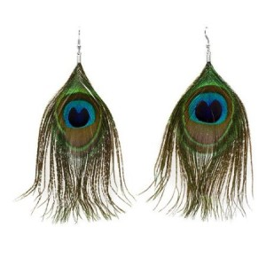 *Hot* Peacock Feather Necklace and Earrings Just $2.97 Shipped
