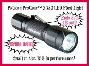 Enter to win The Pelican LED Flashlight (ends 5/3)