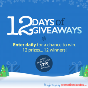 Enter to #win in the Promtional Codes #12DaysofGiveaways