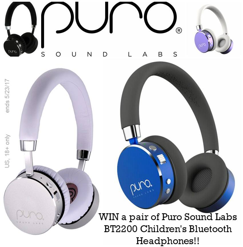 WIN a pair of Puro Sound Labs BT2200 Children's Bluetooth Headphones Ends 5/23/17 #giveaways