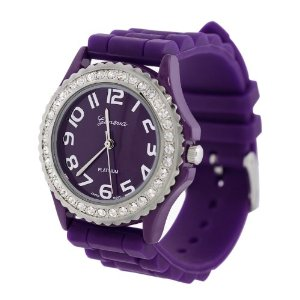 Amazon:Ladies Silicone Gel Crystal Bezlel Watch $4.42