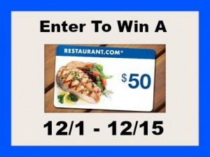 Enter to win a $50 Restaurant.com eGift Card + More #giveways #Giving