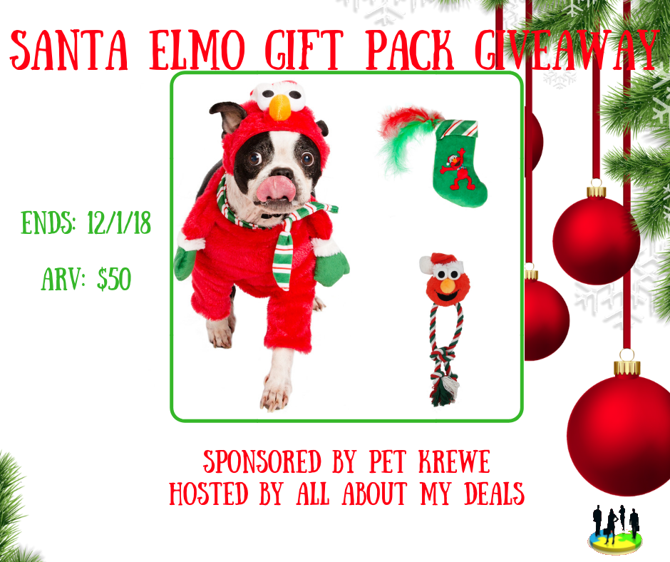 Enter for a chance to win a  Santa Elmo Gift Pack (ends 12/1/18)  #giveaways