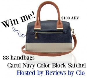 Enter to Win A Carol Navy Color Block Satchel