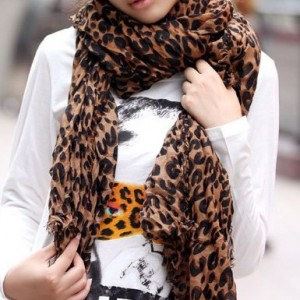*Hot*Leopard Print Scarf $6.48 on Amazon.com