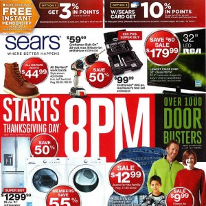 Sears 2013 Black Friday Ads Posted
