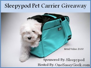 Enter to #win A Sleepypod Pet Carrier (ends 2/5)