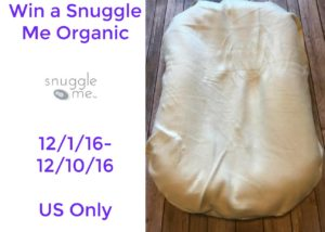 Enter to win win a Snuggle Me Organic (ends 12/10) #giveways  @SimplyMommyLLC #2016HGG