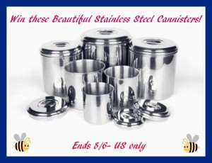 Enter to #win A 6-piece Onyx Stainless Steel Canister (ends 8/16) #giveaways
