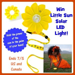 Enter to #win A Little Sun Solar Powered LED Light (ends 7/5) #giveaways