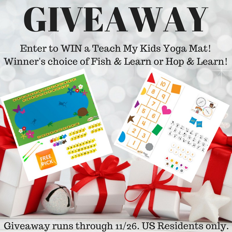 Enter for a chance to #win Teach My Yoga Mat Set & Hop & Learn and Teach My Yoga Mat Set #Holiday2017  @teachmy