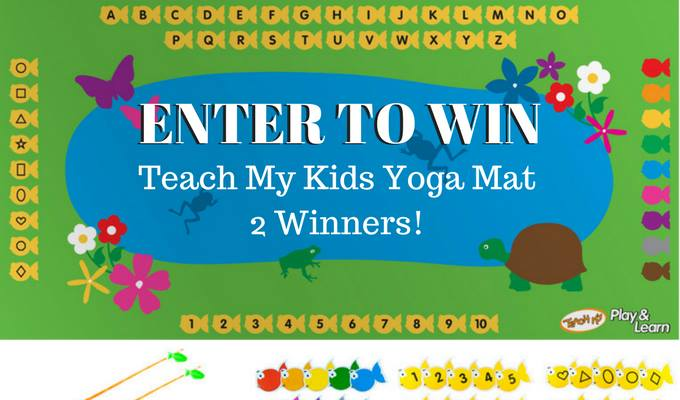 Enter for a chance to win a Teach My yoga mat #yogaforkids #2017Spring