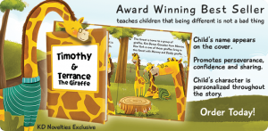 Your Child is The Star With KD Novelties #personalizedbooks