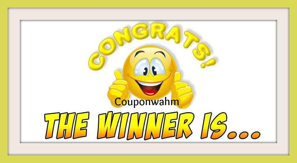Couponwahm Giveaway Winner