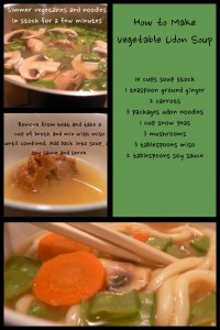 Super Simple Udon Vegetable Soup #recipe