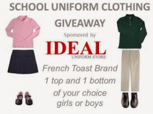 Enter to #win in the School Uniform Giveaway (ends 1/13)