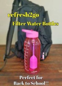 Enter for a chance to #win Refresh2go Milestone Water bottle and Lead Removal Filters #giveaway