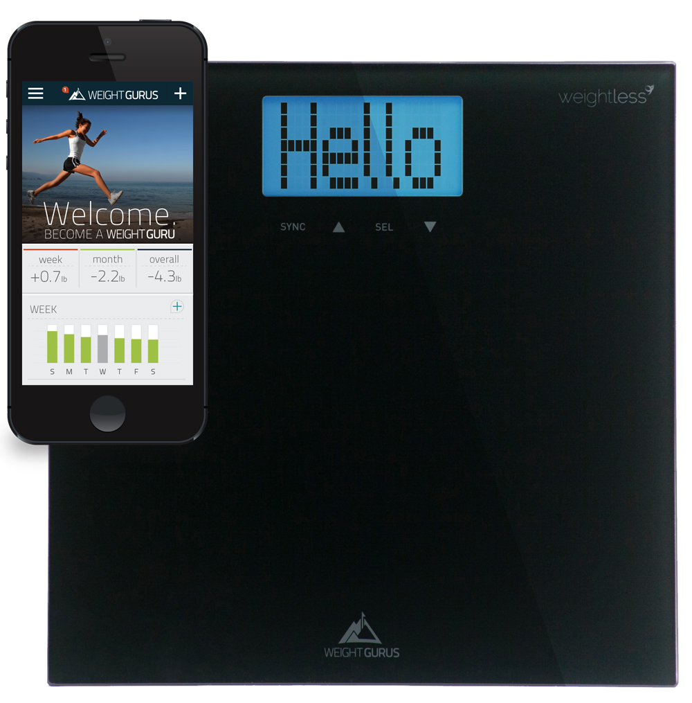 Track Your Weight-loss Progress with The Weight Gurus Smartphone Connected Digital Bathroom Scale #reviews