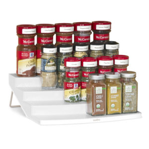 Organize Your Kitchen Cabinets  With The Youcopia 24-Bottle SpiceSteps Rack #reviews #holidaygiftguide