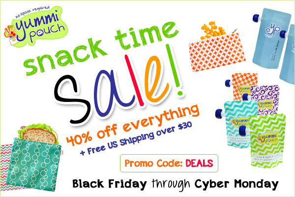 Save 40% off @YummiPouch snack time gear 4 Days Only! #YPCyberSale